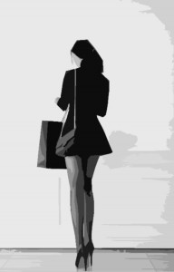 A woman shopping (for sex) with outrageous legs.