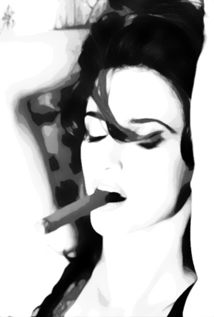 Sexy cigar smoked by a sexy woman